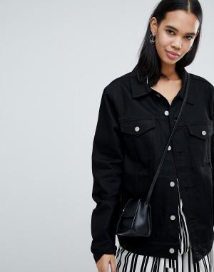 Джинсовая куртка Weekday. Цвет: черный