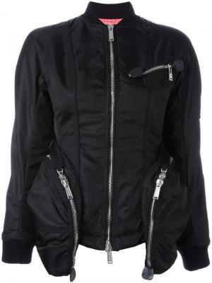 Куртка-бомбер с крупными карманами Dsquared2. Цвет: чёрный