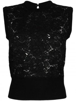 Топ без рукавов с кружевом Dolce & Gabbana. Цвет: черный