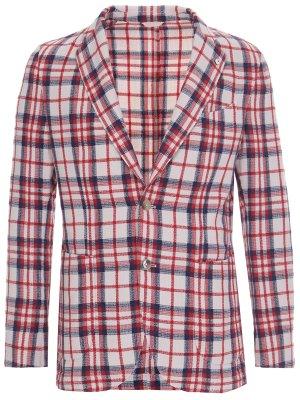 Пиджак из хлопка и льна L.B.M. 1911