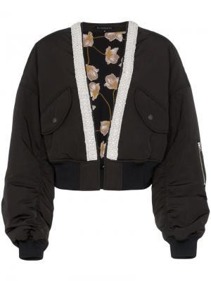 Укороченная куртка-бомбер без воротника Blindness