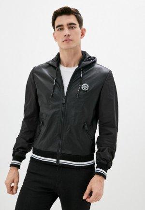 Куртка кожаная Plein Sport. Цвет: черный