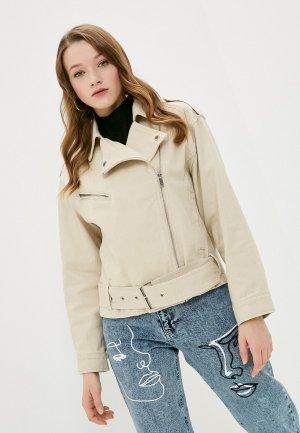 Куртка джинсовая Ostin O'stin LJ6Y7B. Цвет: бежевый