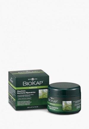Маска для волос Biokap питательная, восстанавливающая, 200 мл. Цвет: зеленый