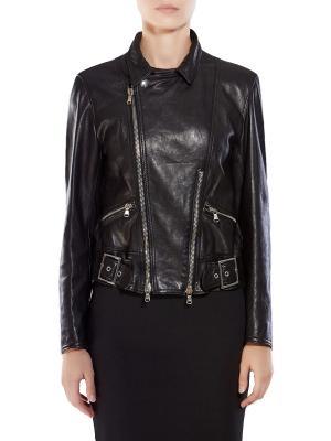 Кожаная куртка 3.1 Phillip Lim. Цвет: черный