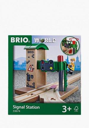Конструктор Brio Сигнальная станция c механическим переключением светофоров. Цвет: разноцветный