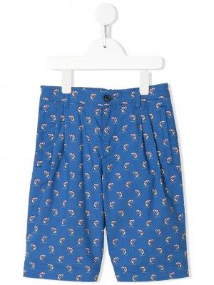 Шорты-бермуды с принтом Dolce & Gabbana Kids. Цвет: синий
