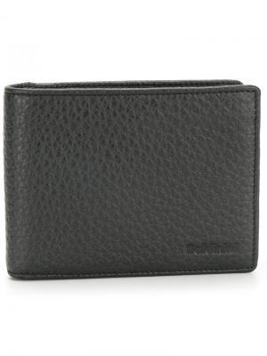Бумажник с тисненым логотипом Baldinini. Цвет: чёрный