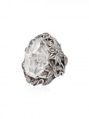 Серебряное кольцо Winter с кристаллами Lyly Erlandsson. Цвет: серебристый