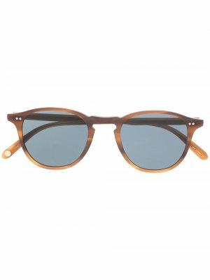 Солнцезащитные очки Hampton Garrett Leight. Цвет: коричневый