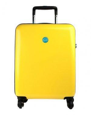 Чемодан/сумка на колесиках GABS. Цвет: желтый