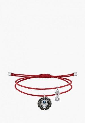 Браслет Swarovski® Unisex. Цвет: красный