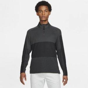 Мужская футболка с молнией на половину длины для гольфа Nike Dri-FIT Vapor - Черный