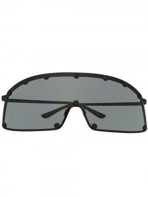 Солнцезащитные очки Performa Shielding Rick Owens. Цвет: черный