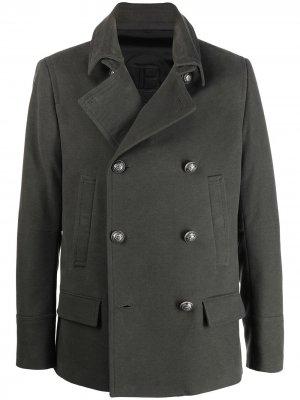 Двубортный пиджак Balmain. Цвет: зеленый