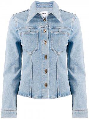 Приталенная джинсовая куртка Nanushka. Цвет: синий