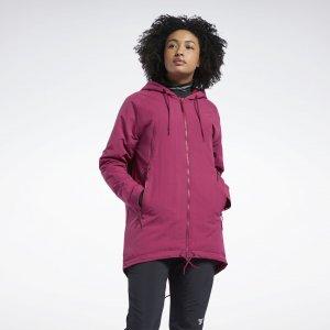 Парка Outerwear Urban Fleece Reebok. Цвет: punch berry