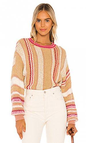 Пуловер show me love Free People. Цвет: taupe,blush