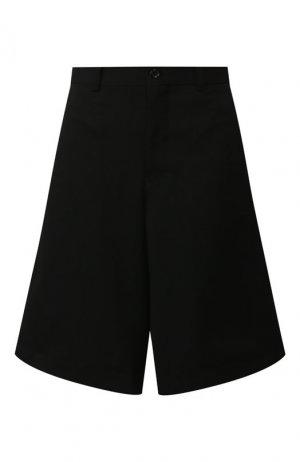 Шерстяные шорты Comme des Garcons. Цвет: чёрный