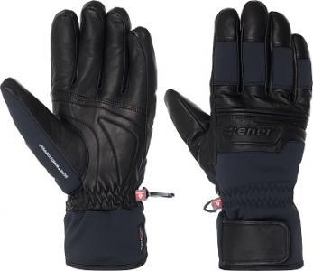Перчатки мужские Gip, размер 10,5 Ziener. Цвет: черный