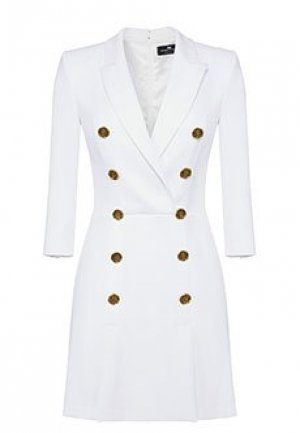 Платье ELISABETTA FRANCHI. Цвет: белый