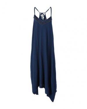 Длинное платье HALE BOB. Цвет: темно-синий