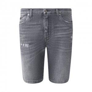 Джинсовые шорты Dolce & Gabbana. Цвет: серый