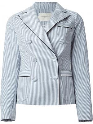 Полосатый пиджак Aquilano.Rimondi. Цвет: синий