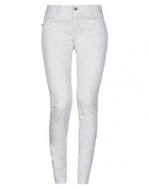 Повседневные брюки TRAMAROSSA. Цвет: светло-серый