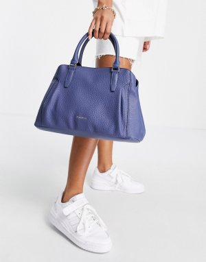 Синяя сумка с ручками Erika-Голубой Fiorelli