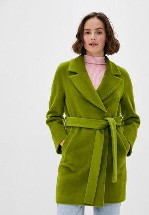 Пальто Снежная Королева. Цвет: зеленый