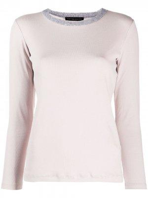 Пуловер с пайетками Fabiana Filippi. Цвет: розовый