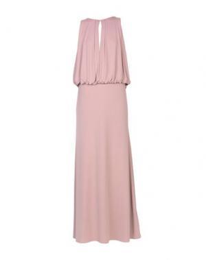 Длинное платье MANGANO. Цвет: пастельно-розовый