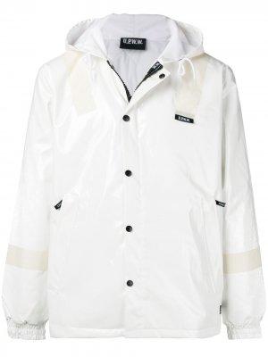 Куртка с капюшоном и логотипом U.P.W.W.. Цвет: белый