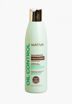 Шампунь Kativa OIL CONTROL Контроль для жирных волос 250мл. Цвет: белый