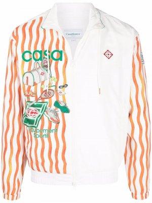Куртка Casa Sport на молнии Casablanca. Цвет: белый