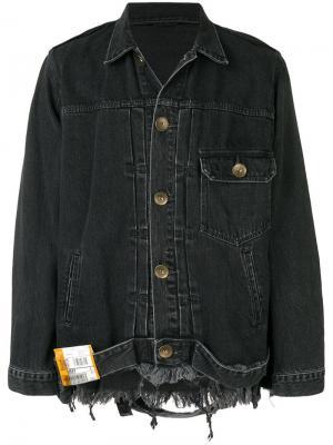Джинсовая куртка в стиле оверсайз Maison Mihara Yasuhiro. Цвет: черный