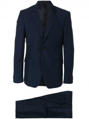 Классический приталенный костюм-двойка Givenchy. Цвет: синий
