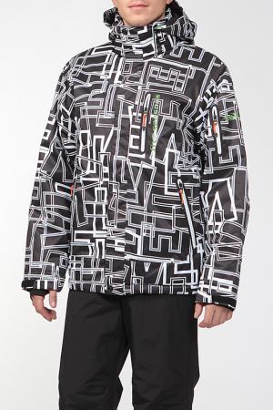 Сноубордическая куртка ACCESS Five seasons. Цвет: бело-черный принт