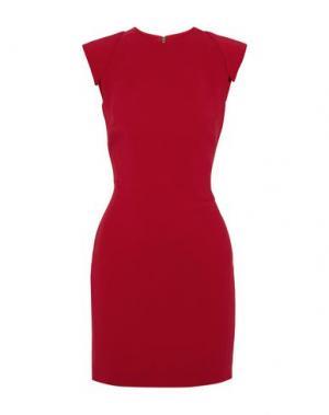 Короткое платье ANTONIO BERARDI. Цвет: красно-коричневый