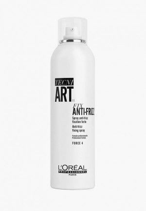 Водоотталкивающий спрей LOreal Professionnel L'Oreal Tecni.Art Fix Anti-Frizz Pure сильной фиксации с защитой от влаги и УФ-лучей, 400 мл. Цвет: прозрачный