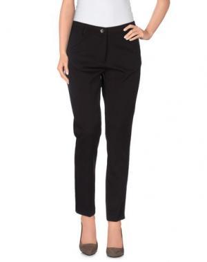 Повседневные брюки FEMÌ. Цвет: темно-коричневый