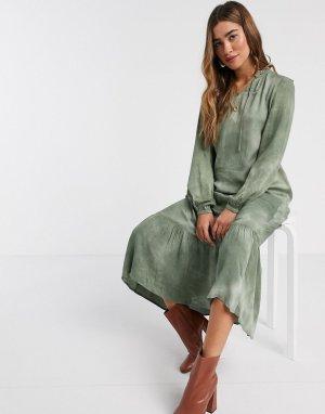 Блузка в стиле бохо с принтом тай-дай -Многоцветный b.Young
