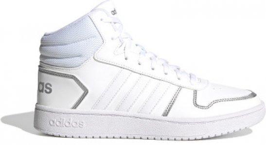 Кеды женские adidas Hoops 2.0 Mid, размер 36.5. Цвет: белый