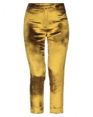 Повседневные брюки ANN DEMEULEMEESTER. Цвет: зеленый-милитари