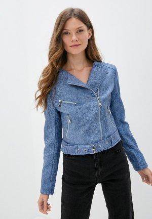 Куртка кожаная Elardis. Цвет: голубой