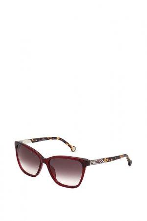 Очки солнцезащитные Carolina Herrera. Цвет: красный