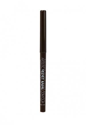 Карандаш для глаз Relouis Artistic Velvet Kajal Contour, тон 02 шоколадный. Цвет: коричневый