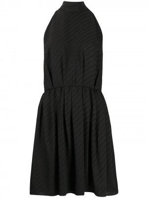 Жаккардовое платье с логотипом Givenchy. Цвет: черный