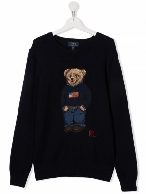 Джемпер Teddy Bear Ralph Lauren Kids. Цвет: синий
